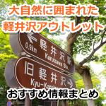 軽井沢アウトレットは広大!サイクリングで大自然も満喫できるおすすめ観光情報