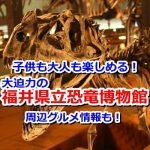 大人も子供も楽しめる!ド迫力な福井県立恐竜博物館を見に行こう!福井名物おすすめグルメもご紹介!