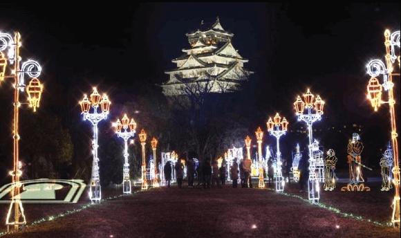 大阪城イルミ
