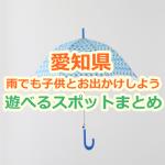 愛知県 雨でも子供とお出かけしよう!雨の日に楽しめる遊び場・お出かけスポット