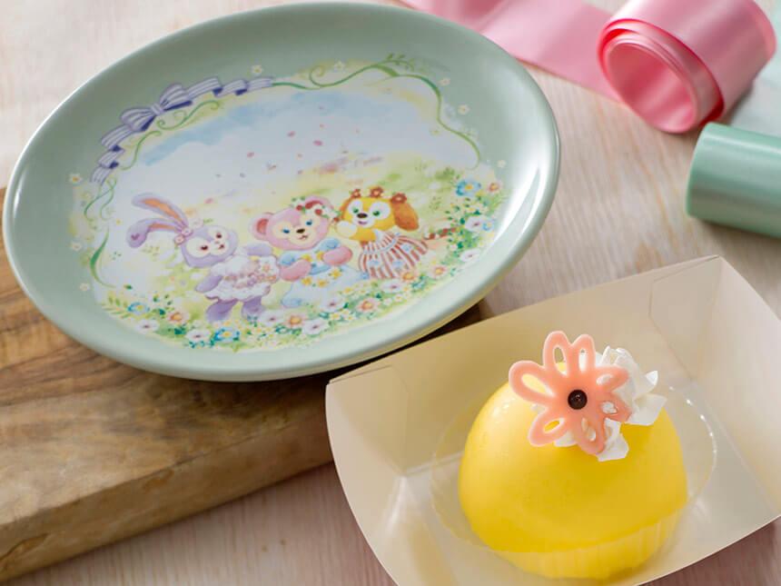 レモンムースケーキ、スーベニアプレート付き