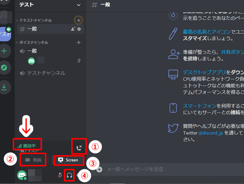ボイスチャンネル通話2