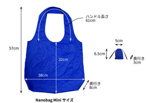 Nanobag miniのサイズ