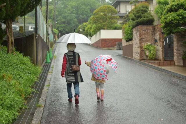 雨の尾張地区