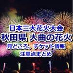 日本三大花火大会のひとつ!秋田・大曲の花火を観に行こう!見どころ&注意点まとめ