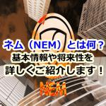 仮想通貨ネム(NEM)とは何?基本情報や将来性を分かりやすく解説します!