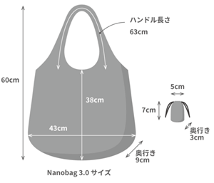 Nanobag 3.0のサイズ