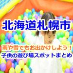 札幌で雨や雪でも室内で子供が楽しめるお出かけスポットを紹介します!
