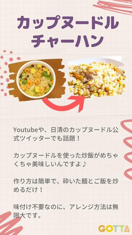 カップ 麺 チャーハン 作り方