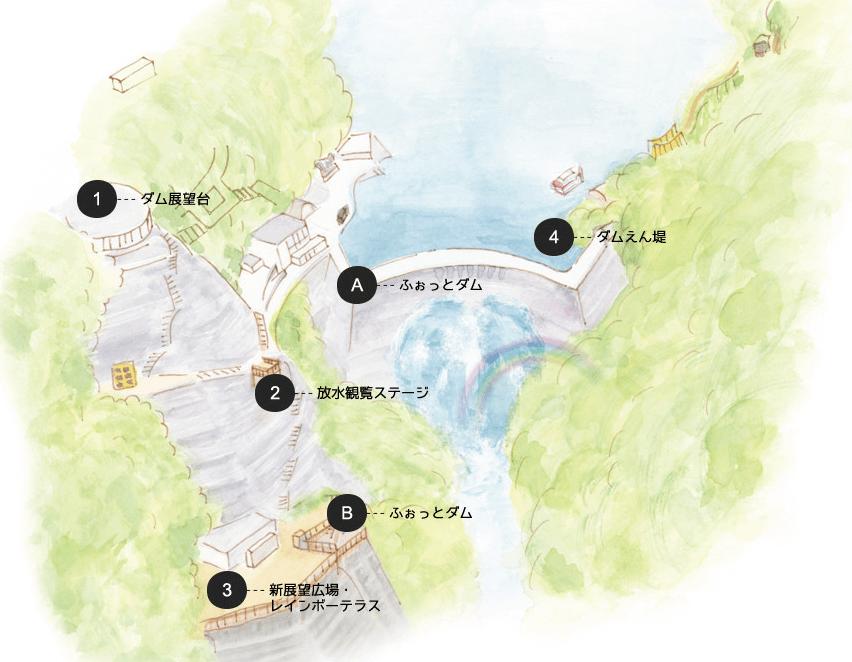 黒部ダム ふぉっとダム 設置場所