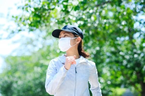 マスク熱中症イラスト