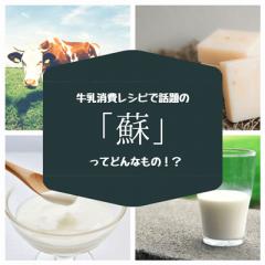 牛乳消費レシピの「蘇(そ)」とは一体何!?蘇は牛乳を煮詰めてできる古代の乳製品だった